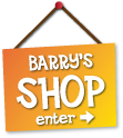 Dog Barry's shop