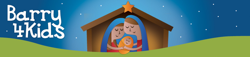Xmas crib logo barry4kids.net